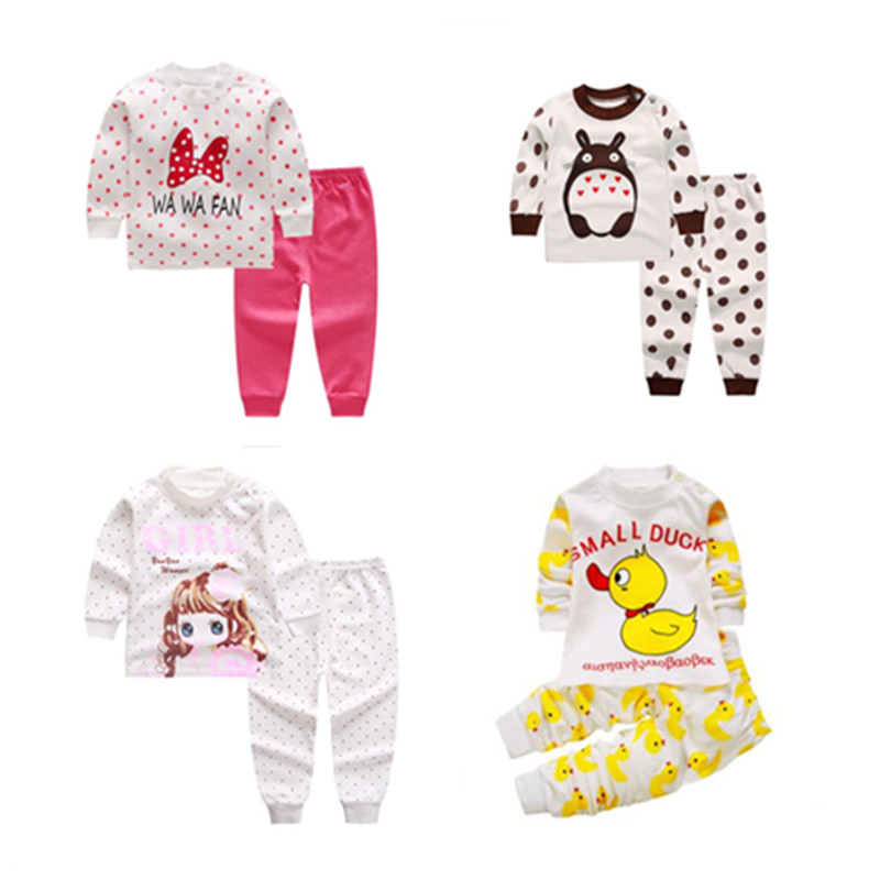 3-24M Baby Sleepwear Set Kids Pajamas Baby Pajamas Boys Girls Animal Pyjamas Pijamas Cotton Nightwear