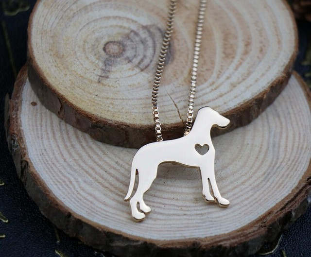 Прекрасное ожерелье с надписью «датский дог» украшения золотым