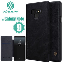 for Samsung Galaxy Note 9 Case Nillkin Qin Business Note9 Flip Leather Case for Samsung Galaxy Note 9 8 7 5 FE Luxury Phone Case tanie tanio Business Style Flip Case Nilkin Dirt-resistant vintage for Samsung Galaxy Note 5 N920 for samsung galaxy note 9 flip case