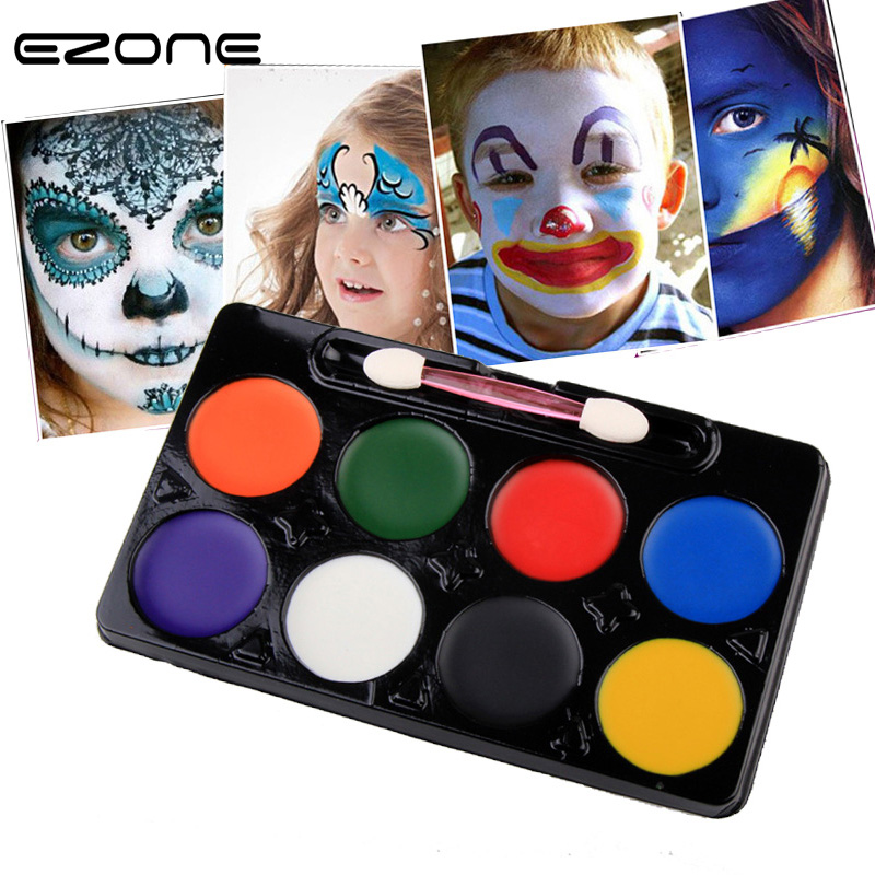 EZONE 8 Colors Body Face Oil Painting Pigment DIY Painting Oil Art Make Up Use In Face Or Body Safe Non-toxic Material Pigment