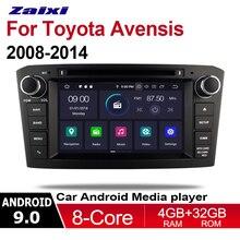ZaiXi 2din Android 9.0 Octa Core 4GB RAM Car DVD for Toyota Avensis 2008~2014 GPS Radio BT Navi MAP Multimedia player system цены онлайн