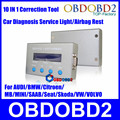 Newly Show 10 IN 1 Light Airbag Resetter OBDII Mileage Correction Service Reset Car Diagnostic Tool For Multi-Brand CNP Free
