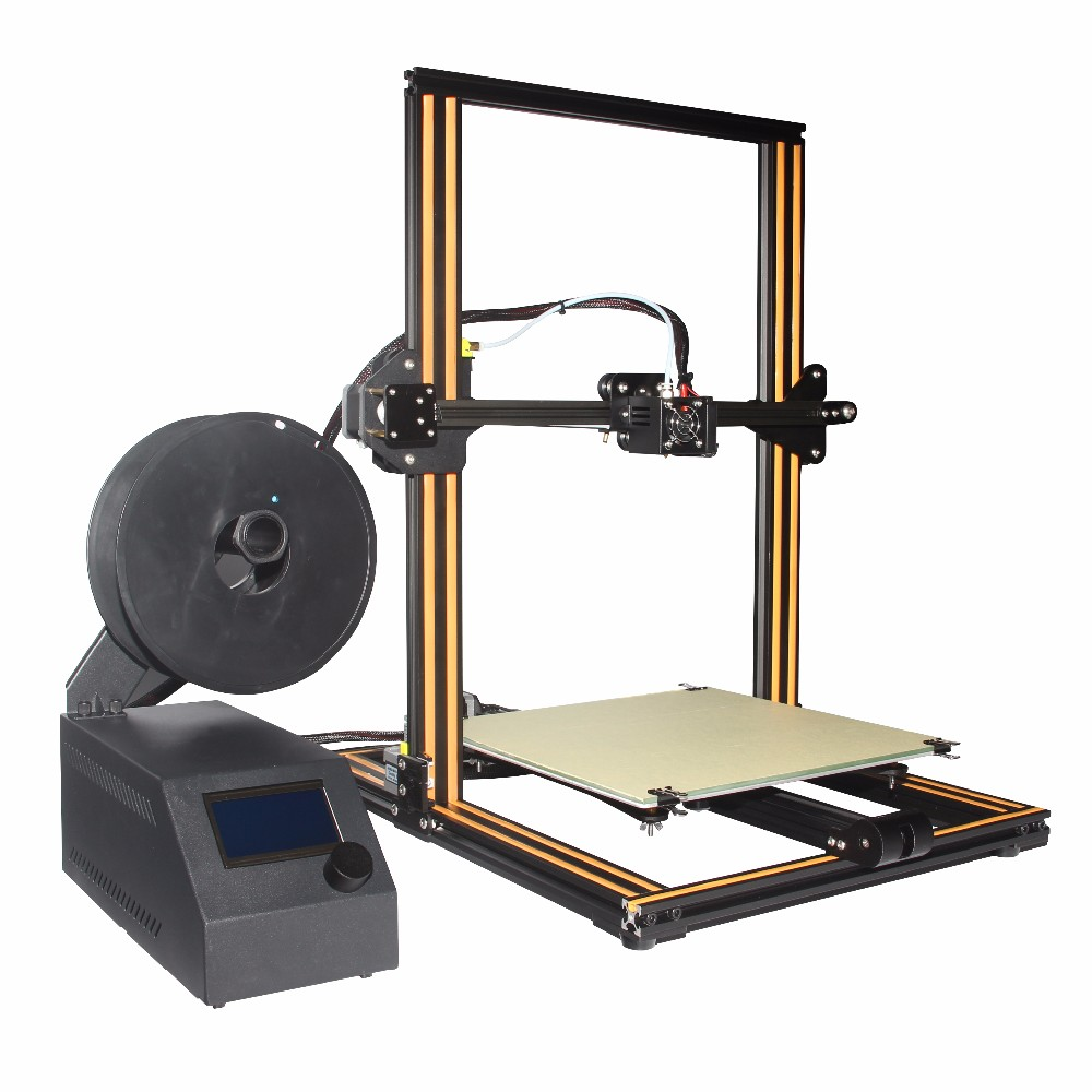 Creality CR-10 large print size DIY Desktop 3D printer 300 * 300 * 400mm print size ABS, PLA thread with heated bed metal frame linear guide rail for xzy axix high quality precision prusa i3 plus creality 3d cr 10 400 400 3d printer diy kit