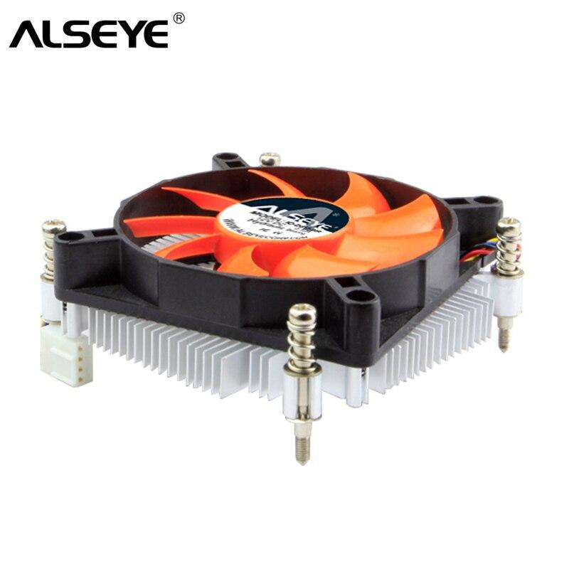 ALSEYE CPU Cooler Ventilateur Radiateur avec 90mm Ventilateur De Refroidissement TDP 90 w 4pin PWM CPU Ventilateur pour LGA 1155 /1150/1151/1156