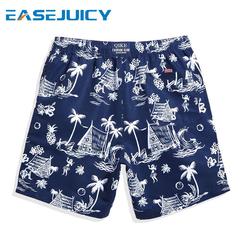 Men's swimming suit   board     shorts   swimsuit liner hawaiian bermudas joggers printed beach   shorts   swimwear plavky mesh
