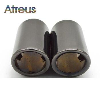Atreus רכב נירוסטה פליטה עצה צעיף צינור כיסוי לאאודי A4 B8 A3 A5 אביזרי לאאודי A6 C6 q5 Q7 Q3 A1 Sline