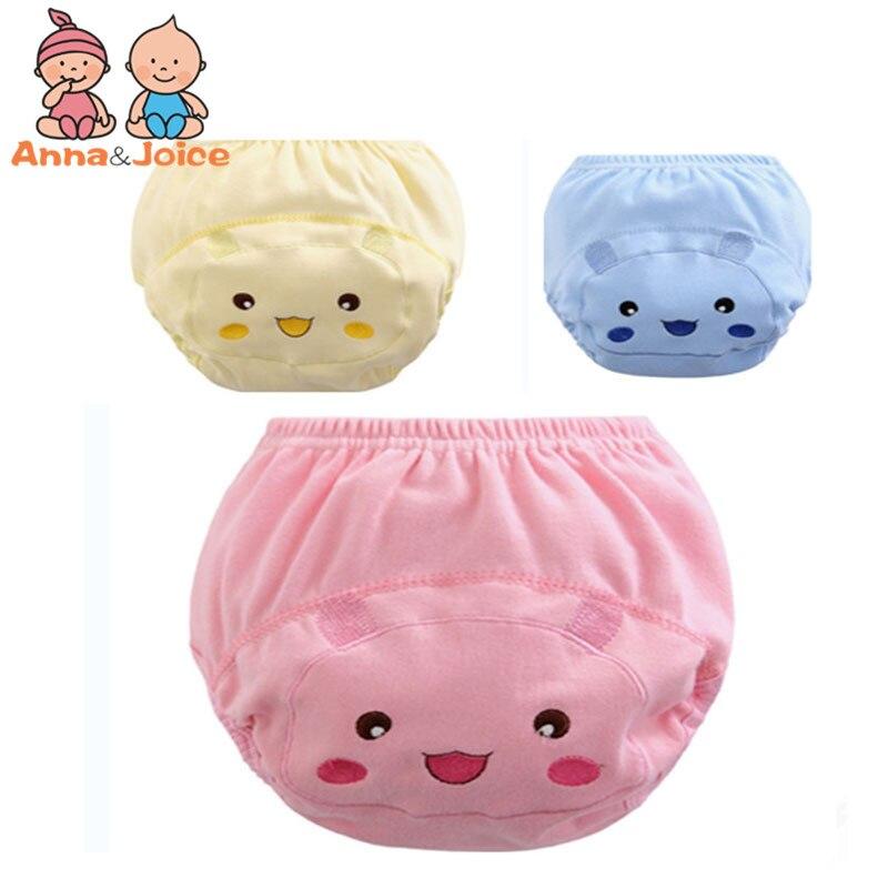 30pcs/lot Baby Diapers Training Pants 100% Cotton  Soft Comfortable Nappy Cute Cartoon Pattern Underpants Suit 5-15kg