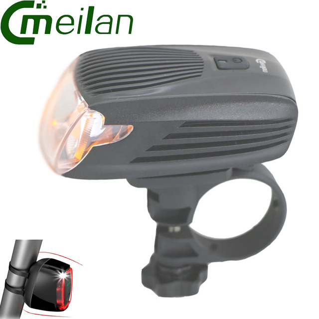Meilan X1 Portable Lights Flashlight Bicycle Light Bike Led Front Light&Cmeilan X6 Tail Lamp 16 LED Smart Bike Led lights