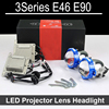 Bi-xenon car LED Projector lens Assembly For BMW 3 series E36 E46 E90 with halogen headlight ONLY Retrofit Upgrade (2002-2012)