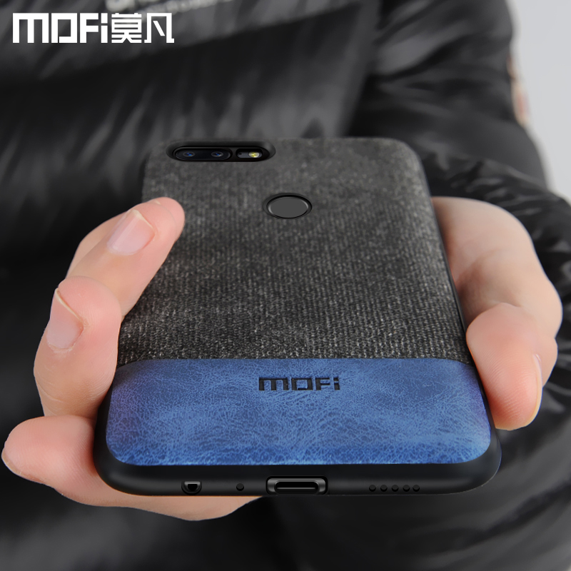 Oneplus 5 caso cubrir una plus 5 t cubierta Borde de silicona hombres de negocios de tela a prueba de golpes caso coque MOFi oneplus 5 caso