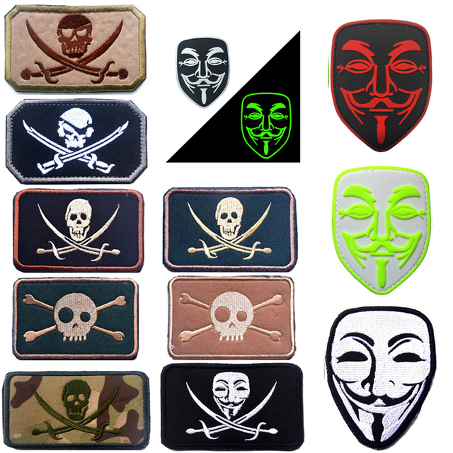aliexpress com buy embroidered pvc patch navy seals jolly roger
