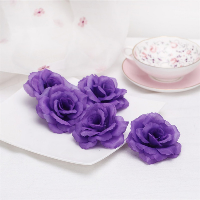Artificial Rose Flower Head Wedding Ball Silk Rose Wall Style Party And Festival DIY Decoration Mother's Day Decoration thumbnail