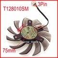 EVERFLOW T128010SM 75mm 3Pin 40x40x40mm Ventilador da Placa De Vídeo VGA Para 560TI GTX670 GTX580 Refrigeração fã