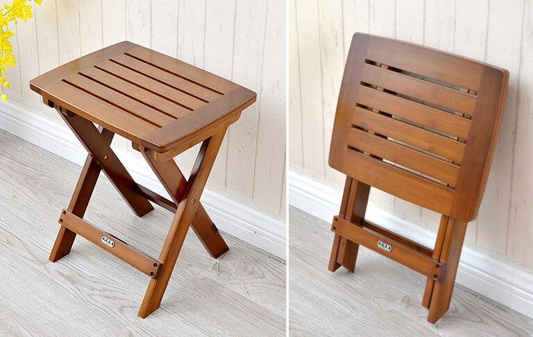 Bambù multifunzionale pieghevole sgabello sedia sedile per bambini