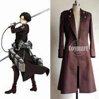 [LAGER] Anime Angriff auf Titan Shingeki kein Kyojin Abbildung Levi Uniform Trenchcoat Halloween Cosplay kostüm für erwachsene