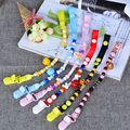 Round Beads Pacifier Chain Fashion Plastic Pacifier Clips For dummy clip BPA Free Nipple Clamps pacifier holder Clip For Nipples