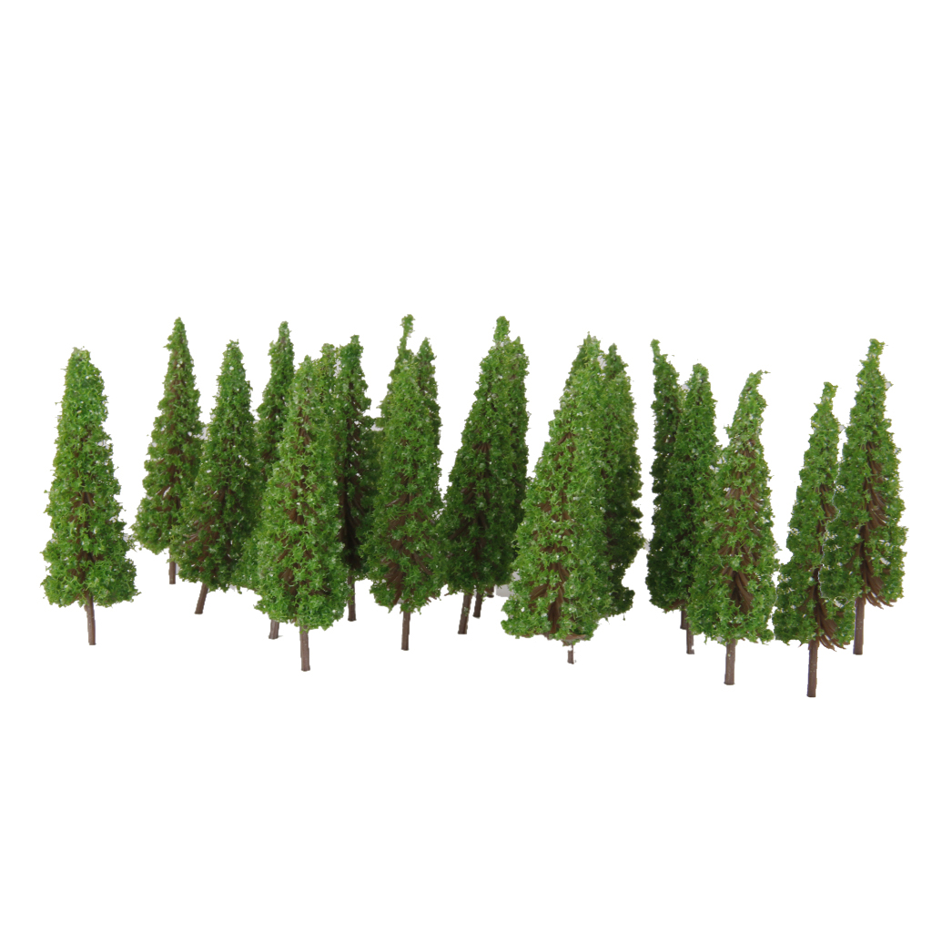 50 Pcs Train Layout Model Tree 1:100 HO OO Scale Garden Wargame Diorama Scenery