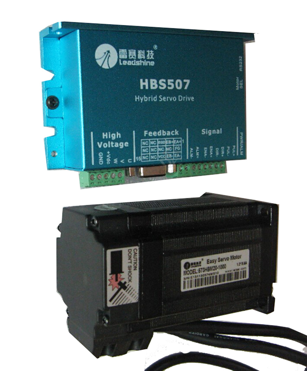 simple direct AC servo closed loop motor HBM20-1000 + 3-Phase Hybird servo Drive HBS507simple direct AC servo closed loop motor HBM20-1000 + 3-Phase Hybird servo Drive HBS507