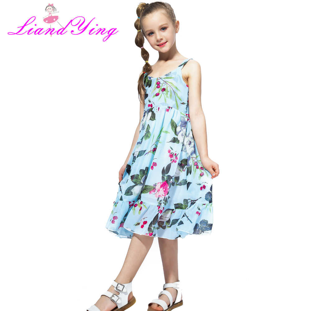 e34cf7e4541df 2018 Brand Bohemia Children Dress Girls Summer Floral Party Dresses Toddler  Clothing Kids 7 10 12 Years Old Girls Dress For Baby