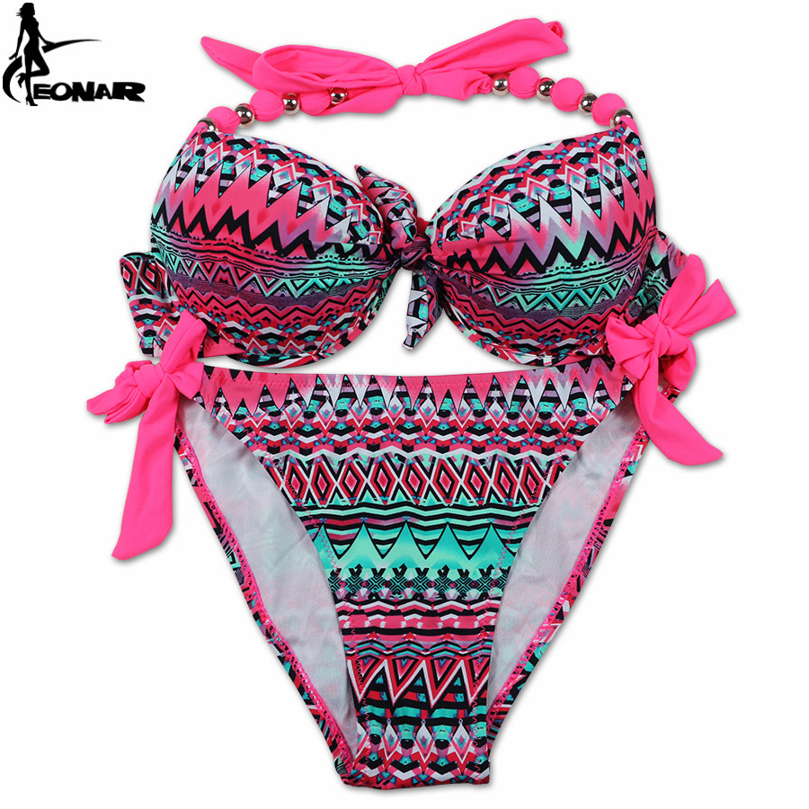 EONAR Bikini 19 Offer Combined Size Swimsuit Push Up Brazilian Bikini Set Bathing Suits Plus Size Swimwear Female XXL 27