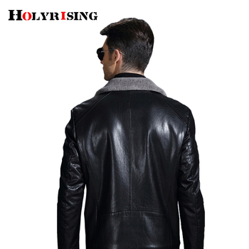 Men leather jackets Winter thicken PU le...