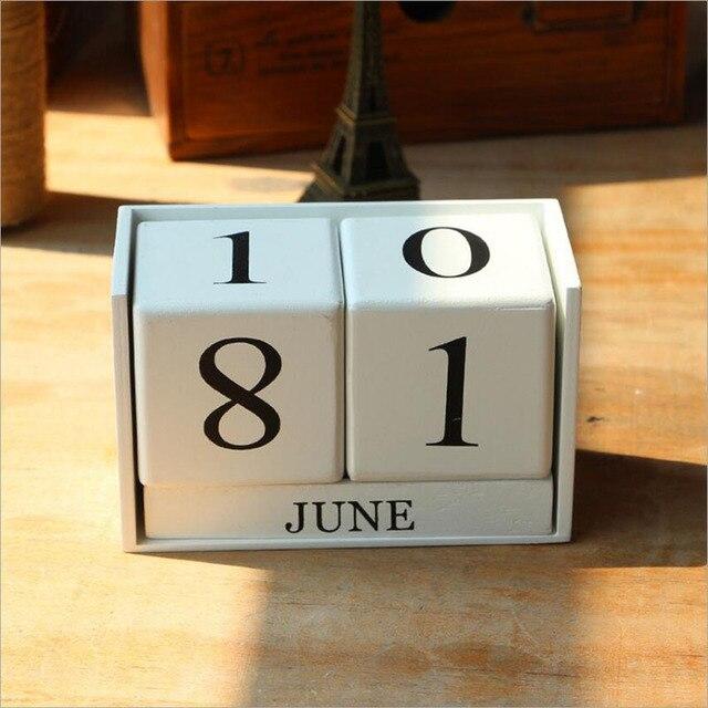 Arredamento Legno Fai Da Te.Stile Europeo Di Legno Calendario Camera Arredamento Per La Casa