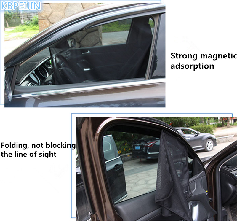 4pcs Set Car Window Uv Protection Cover Sunshade Curtain Sticker For Volvo Xc60 S60 S80 S40 V60 V40 Xc90 V70 Xc70 Accessories In Stickers From