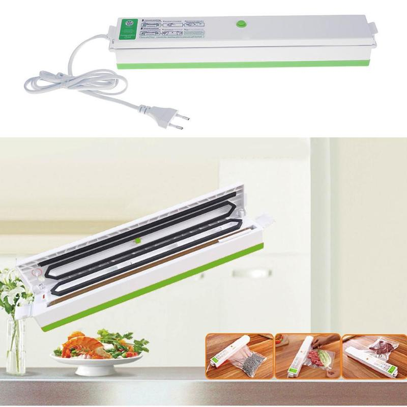 Household Food Vacuum Sealer Packaging Machine Film Sealer Vacuum Packer Film Container Food Sealer Saver With 15Pcs Bags Free household vacuum food sealer packaging machine 220v film sealer vacuum packer with 10 bags
