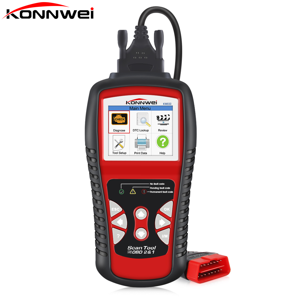 Factory Price OBDII EOBD CAN Scanner Tool KW830 Auto Code Reader Odb2 Diagnostic Work For Renault Car Better Than MaxiScan MS509