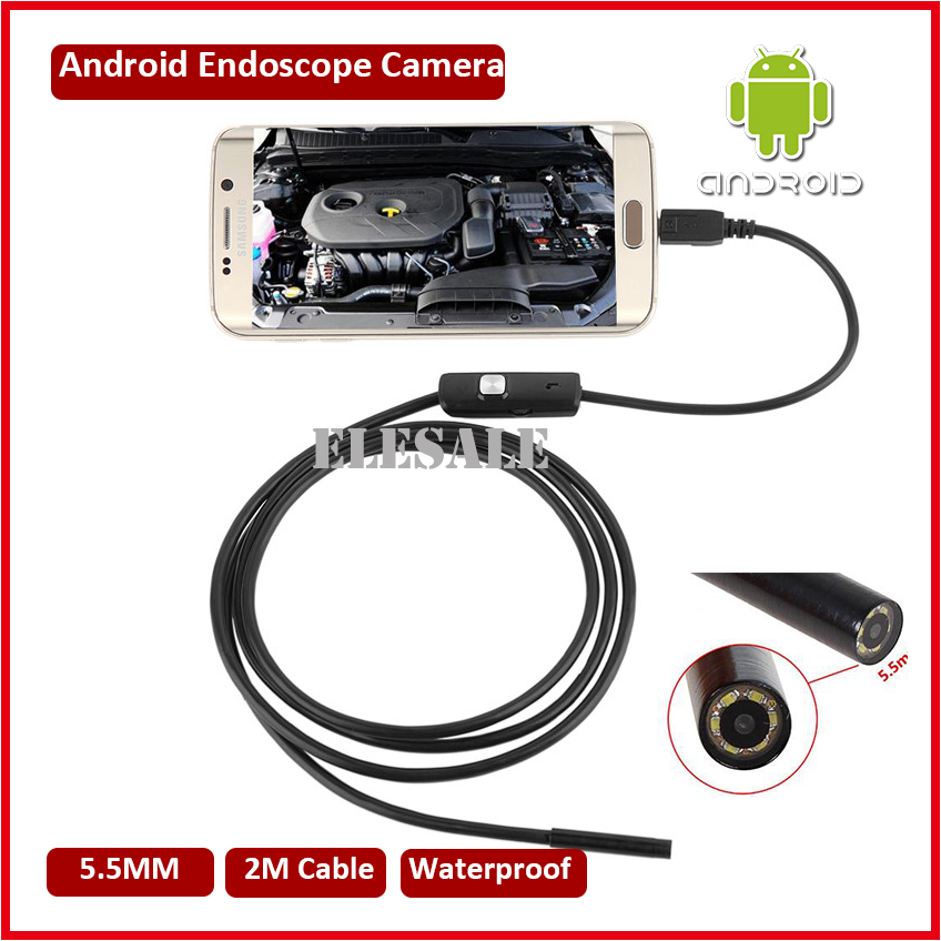5.5mm 2M Cable Waterproof Android Endoscope Camera Module 6LED OTG USB Inspection Borescope Underwater Fishing For Windows PC limoni 007 holiday 720 721 722