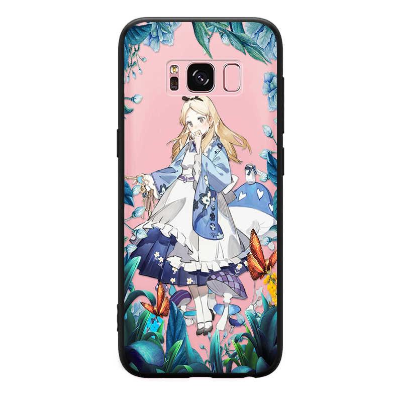 着物かわいい女性キャラクター三星銀河 S6 S7 エッジ S8 S9 プラス注 3 4 5 8 9 ハード電話ケース