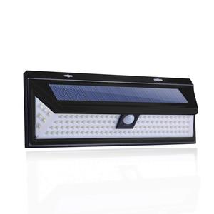 Image 2 - 180LEDs PIR hareket sensörlü ışık açık LED projektörler güneş enerjili işık duvar lambası ev bahçe güvenlik sundurma işıkları