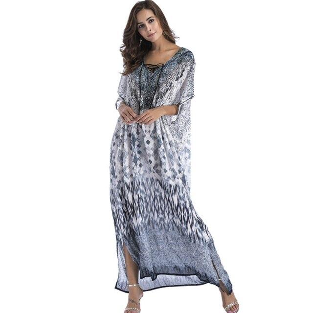 34daf99d6279b Plus size 4XL 5XL 6XL WOMEN clothing sexy v neck long maxi summer big size  loose