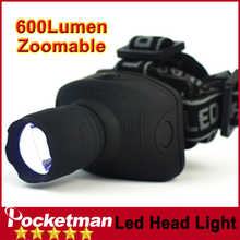 zk93 LED Headlight 600 Lumens Headlamp Flashlight Frontal Lantern Zoomable Head Torch Light To Bike For Camping Hunting Fishing
