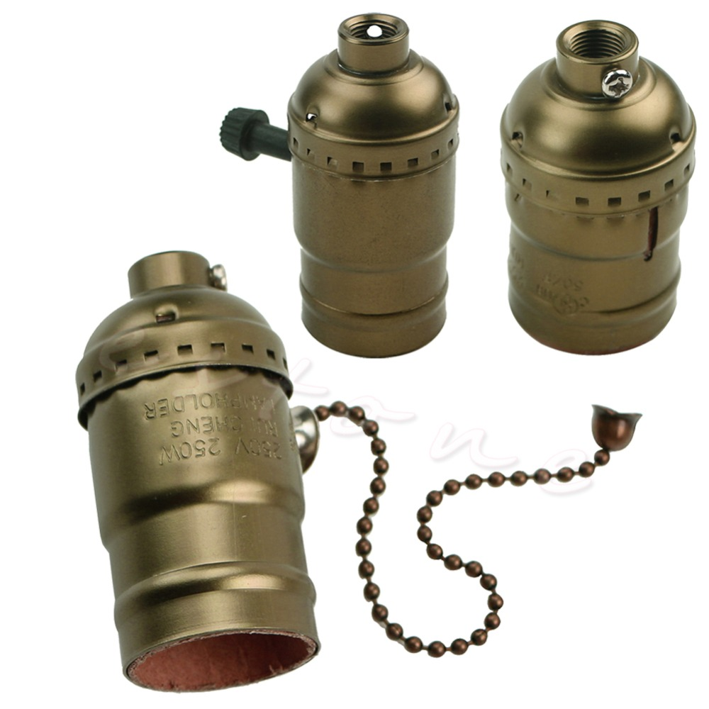 Aluminum E26/E27 Lamp Accessories Socket Holder Vintage Antique Edison Bulb