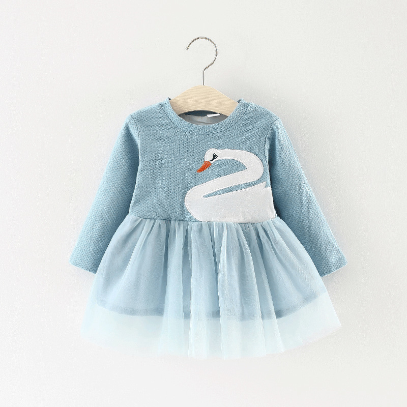 Kids Girl Dress 2018 Spring cartoon pattern one-piece infant baby clothes long sleeve Shirt child Autumn Dresses For Girls 3T стакан кофейный с двойными стенками 0 3 л gipfel 7149