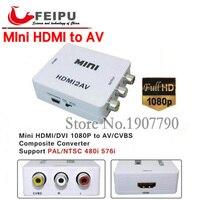 Мини Композитный 1080 P HDMI для RCA Аудио Видео AV CVBS адаптер Поддержка HD для HD HDMI2AV конвертера для ТВ PC PS3 VCR DVD PAL