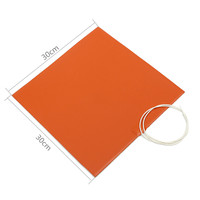 750W 120V Silicone Heater Pad For 3D Printer Heated Bed Heating Mat New 30x30cm Orange Durable
