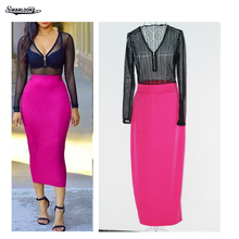 Фотография 2018 Autumn New Women Fashion V-Neck Long Sleeved Perspective Mesh Dinner Party Semi Sexy Zipper Black Gauze Tie Rose Red Dress