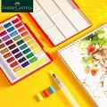 Faber Castell Aquarela Pintura 24/36/48 Definir a Cor Da Água Sólida Aquarela Conjunto Pintura Caixa de Cor Brilhante Portátil pigmento