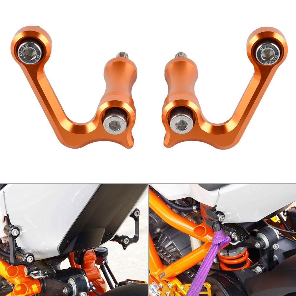 Motorcycle Billet Aluminum Anodized Racing Hooks For KTM 1190 RC8 RC8R nicecnc 1 pair motorcycle racing hooks for ktm rc8 r rc8r 1190 billet aluminum left right racing hook