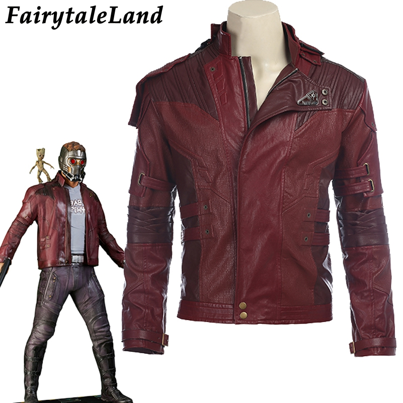 Étoiles Seigneur Veste veste courte cosplay Halloween costume Gardiens de la Galaxie 2 Étoiles Seigneur cosplay costume en cuir veste