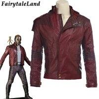 Звездный лорд куртка короткая куртка Косплей Костюм для Хэллоуина стражи галактики 2 Звездный лорд карнавальный костюм кожаная куртка