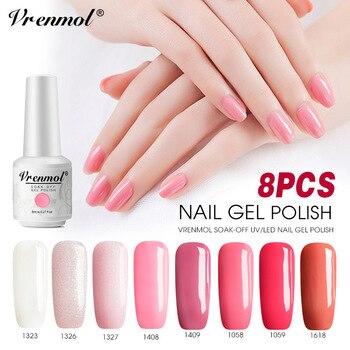 Vrenmol 8 Uds Color Rosa Serie Esmalte De Uñas Gel Uv Para