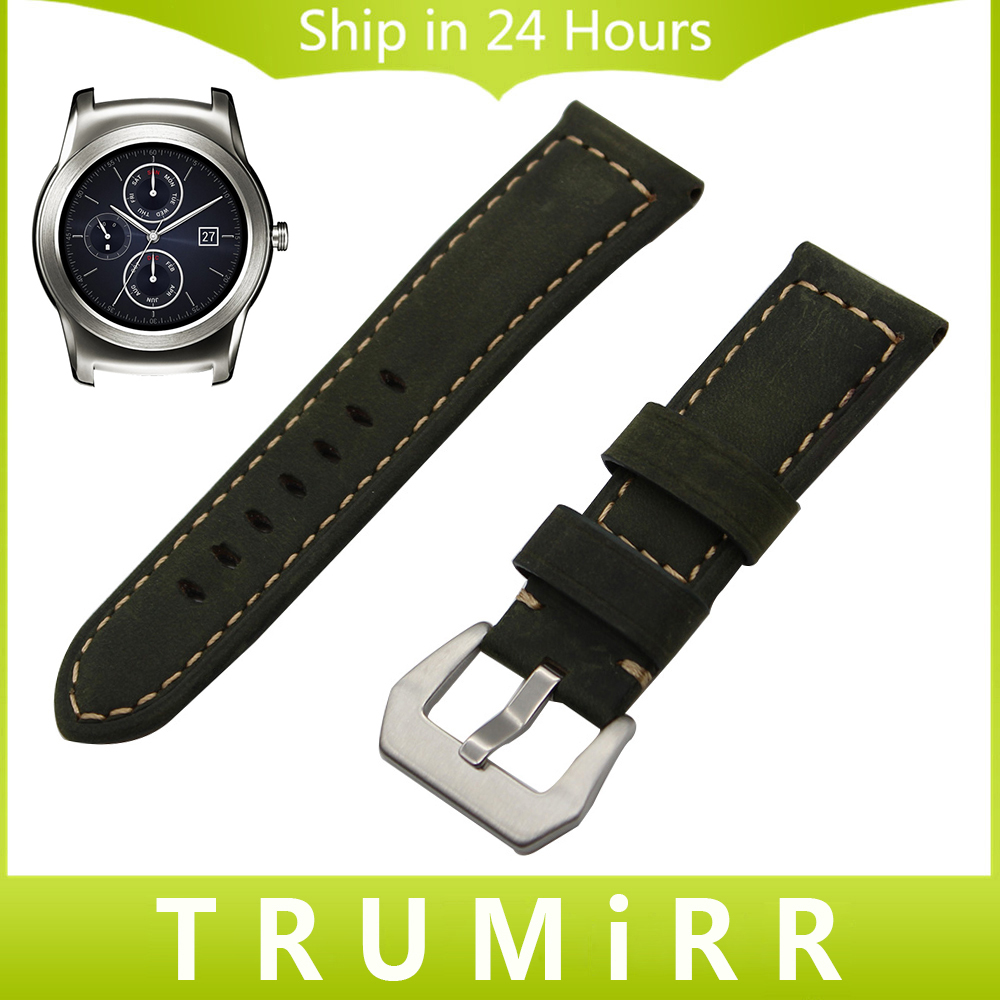 22mm Calf Genuine Leather Watchband for LG G Watch W100 W110 Urbane W150 Stainless Steel Tang Buckle Strap Wrist Band Bracelet 22mm calf genuine leather watch band tool for ck calvin klein tang buckle watchband strap wrist belt bracelet black brown green