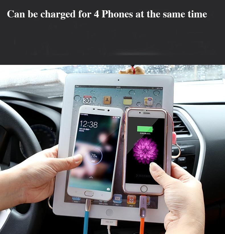 12-24V Выходное автомобильное зарядное устройство Выключатель напряжения Быстрая зарядка передняя/задняя USB Зажигалка автомобильный прикуриватель для iPad iPhone& Tablet