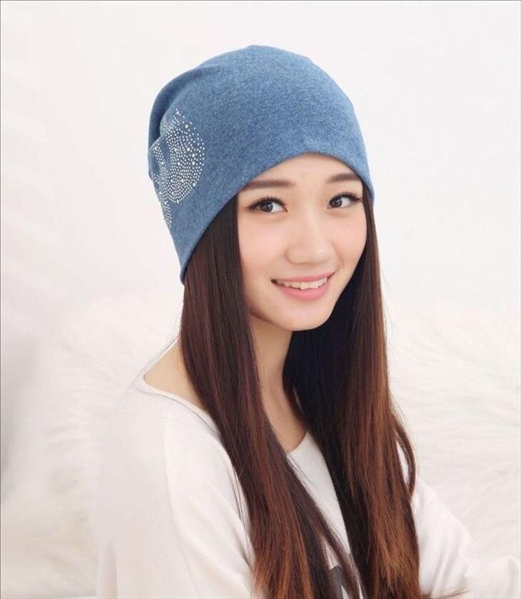 e4f29f8614e New Women s Hats with Rhinestone Swan Cotton Turban Beanies for Men ...
