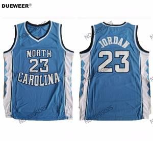 e36d71370 DUEWEER Mens North Carolina Tar Heels Michael Jordan College Basketball  Jersey Retro Blue 23 Michael Jordan Stitched Shirts