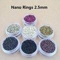5000pcs  nano rings beads for nano tip human hair extensions  2.5mm