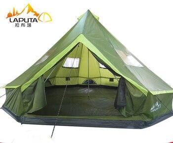 Lakuta Ultralarge 8-12 persona impermeable Camping fiesta tienda familiar Namiot Carpas De...